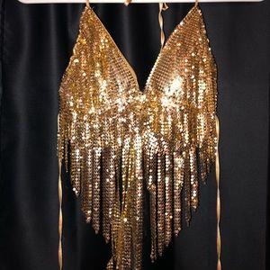 Brand New Little Black Diamond Gold Top